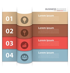 Banner business infographics2 vector image