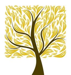 beautiful art tree isolated on white background vector image