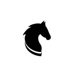 Black head horse icon vector