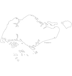 Singapore, Map & Outline Vector Images (over 110)