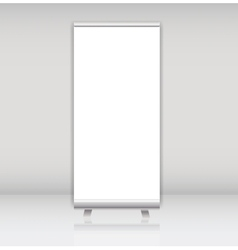 Blank roll up banner display template for vector