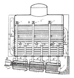 Boiler combination steam generator vintage vector
