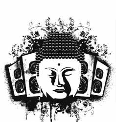 Buddha sound vector image