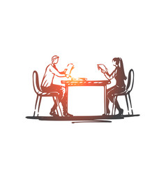 Business partner office table meeting vector