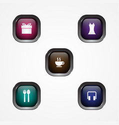 button square icon vector image