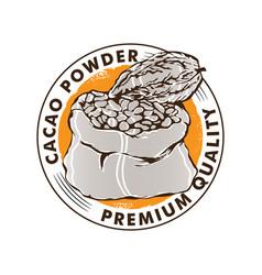 Cacao logo design vector