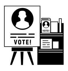 candidate election stand icon simple style vector image