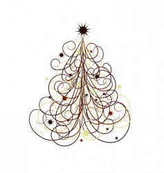 Christmas tree abstract vector