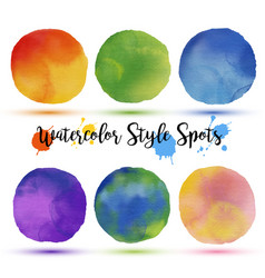 colors balls in watercolor style vector image