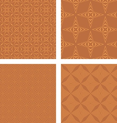 Copper color seamless pattern background set vector image