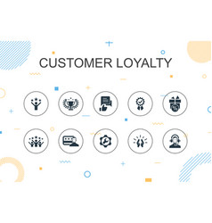 Customer loyalty trendy infographic template thin vector