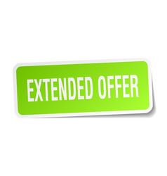 Extended offer square sticker on white vector