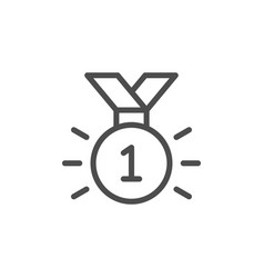 first place medal line icon vector image
