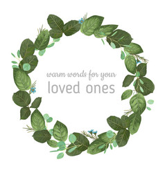 floral a round frame a wreath vector image