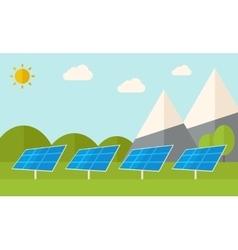 Four solar panels vector