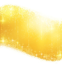 Golden sparkling Christmas background vector image