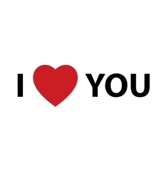 I Heart You design element for Valentines day vector