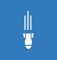 Icon military mortar shell falling vector