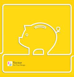 Icon pig piggy bank vector