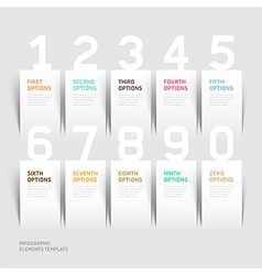 Infographics number options template vector