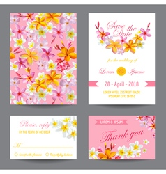Invitation or Greeting Card Set - for Wedding vector image