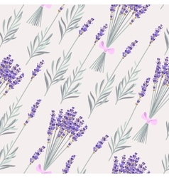 Lavender bouquets seamless vector
