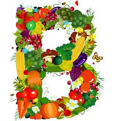 Letters vegetables b vector