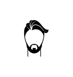 male hairstyle and beard iconelement hairstyles vector image