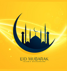 Muslim religion eid festival greeting design with vector