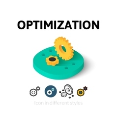 Optimization icon in different style vector