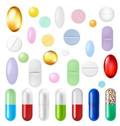 Pills set vector