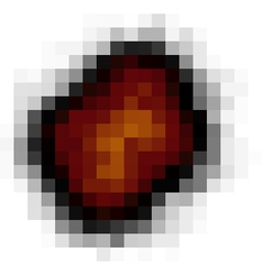 pixel explosion isolated over white in fire color vector image