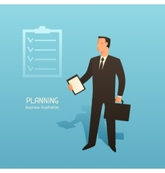 Planning business conceptual with vector