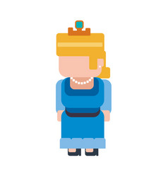 Princess pixelated videogame vector