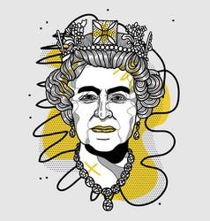 queen elizabeth ii portrait vector image