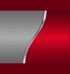 Red and silver metallic background vector