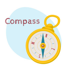 retro style compass cartoon vector image