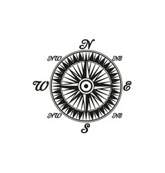 retro wind rose compass isolated icon vector image