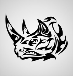 Rhino Head Tribal vector image