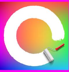 roller brush background vector image