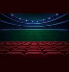 rows red seats vector image