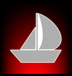 sail boat style vector image
