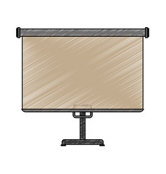 screen projection blank vector image