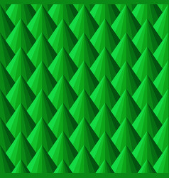 Seamless bright pattern with green triangles vector