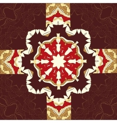 Seamless oriental ornamental pattern in brown vector image