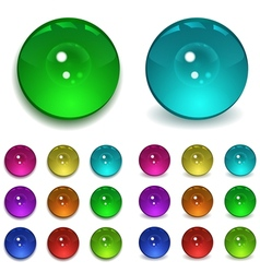 Set of multicolored beads vector image