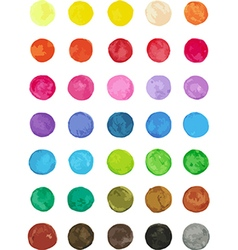 Set of multicolored watercolor dots vector image