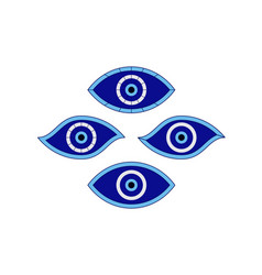 Set protection amulets from evil eye vector