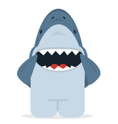 shark with open jaws smile vector image