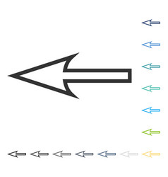 Sharp arrow left icon vector